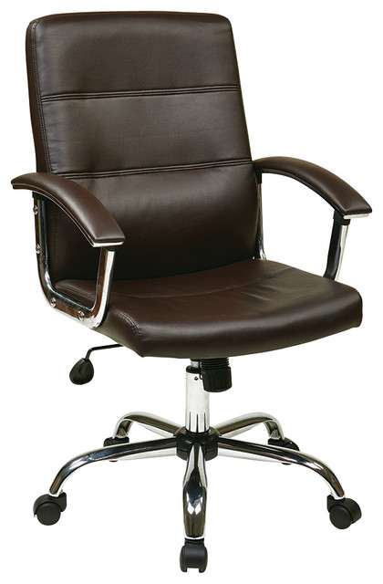 Office Star Avenue Six Malta Office Chair in Espresso traditional-office-chairs