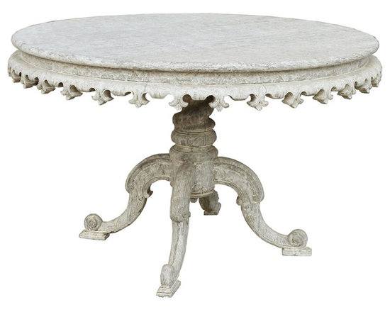 Noir Fest Table, White Weathered - Fest Table with Mahogany wood in White Weathered finish by Noir Furniture.
