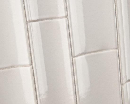 """Ceramic - ANN SACKS Gotham 3"""" x 8"""" and 4"""" x 8"""" bamboo ceramic field in cotton matte"""