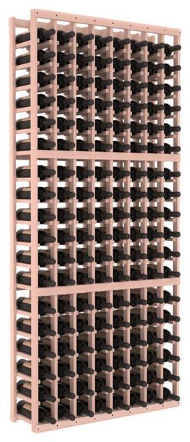 8 Column Standard Wine Cellar Kit in Redwood, White Wash Stain contemporary-wine-racks