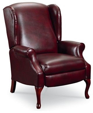 Makenzie Leather Recliner Chair traditional-chairs