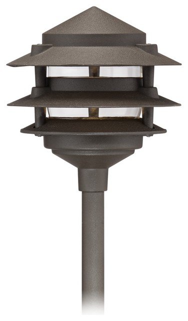 Traditional Three Tier Pagoda Low Volt Bronze LED