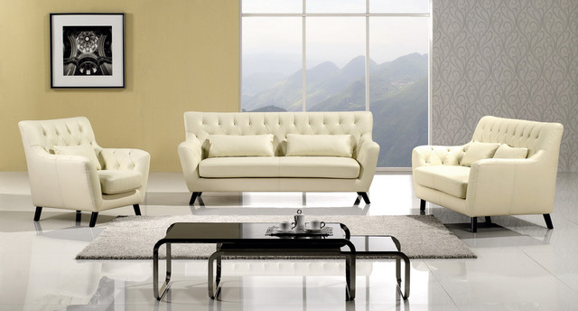 Sofa set modern living room furniture sets los for Modern sitting room furniture