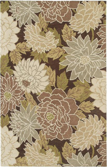 Kaleen Botany Putina 8' x 11' Brown Rug contemporary-rugs