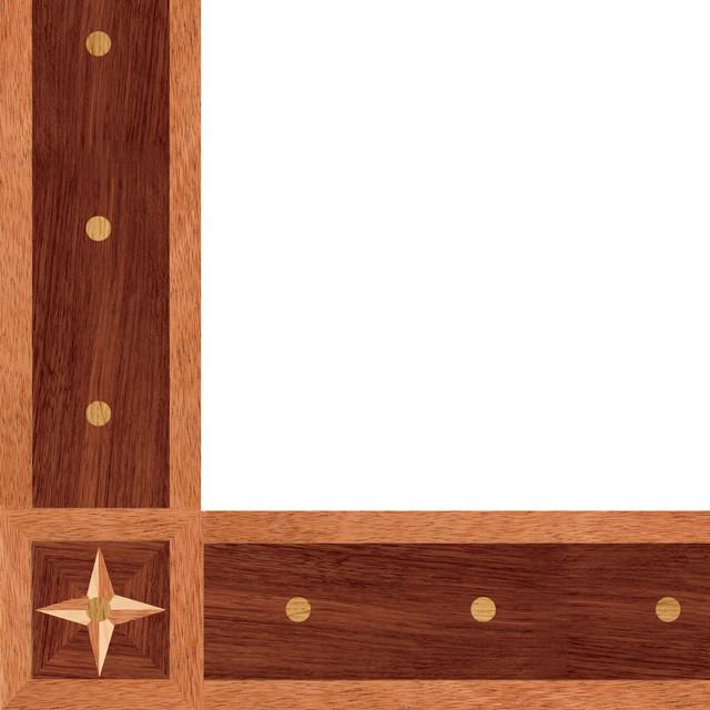 Oshkosh designs chatham inlay border and corner modern for Hardwood floor designs borders