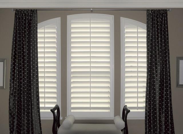 Window shutters plantation shutters traditional for Shutter window treatment ideas