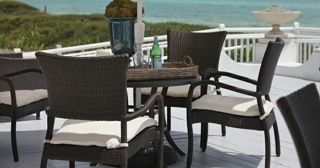 Outdoor Furniture For Oceanfront Houses beach-style-outdoor-dining-sets