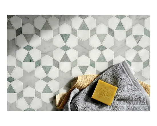 Stone Mosaic - Medina mosaic is  inspired by the patterns and textures  of the  Mediterranean and Spanish Colonial architecture and interiors.
