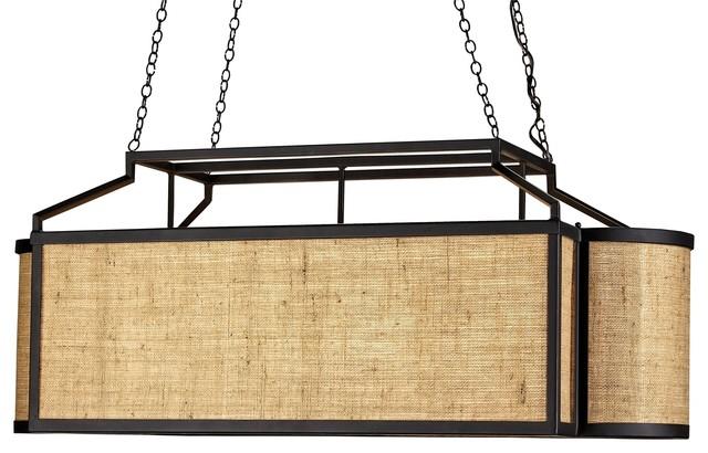 Wiggins Rectangular Chandelier industrial-chandeliers