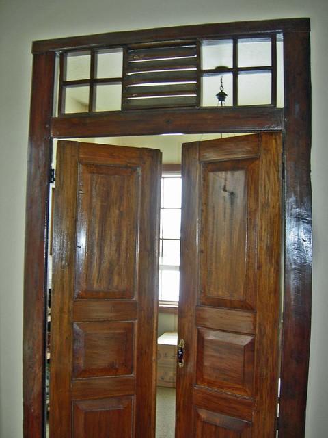 Salvaged / Reclaimed Teak Door & Frame From East Java rustic-interior-doors