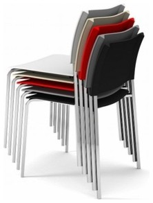 Green Srl | Alfa Fireproof Chair, Chrome Frame (Set of 4) modern-chairs