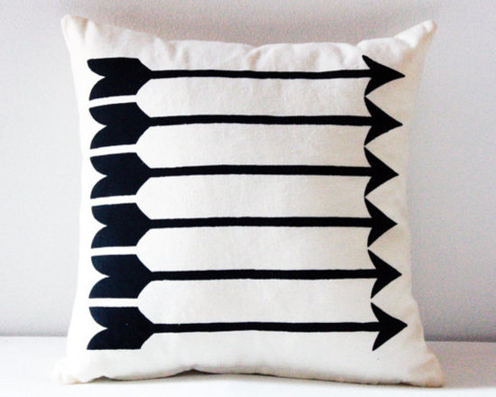 Sharp Shooter Arrow Pattern Screen-Printed Pillow by Earth Cadets -