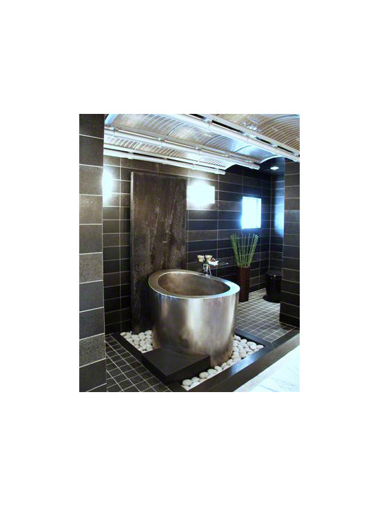 Elliptical Stainless Steel Japanese Bath -