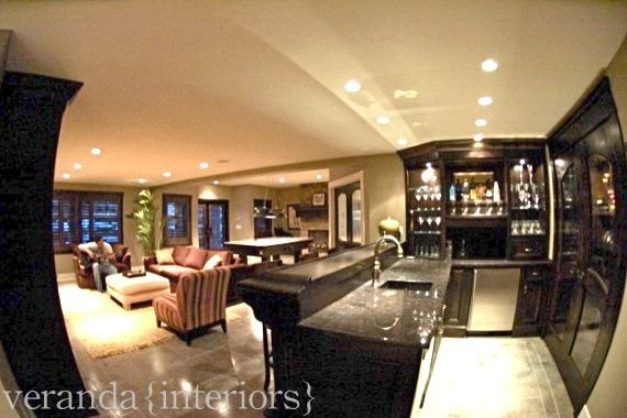 Man Cave contemporary basement