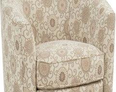 Rowe Baldwin Swivel Chair - Natural Floral modern-chairs