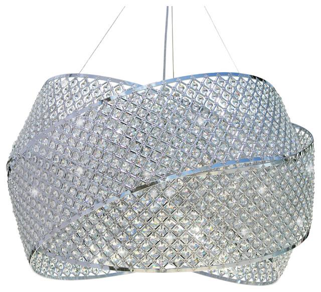 3 Ring Crystal Drum Suspension Chandelier Pendant Light