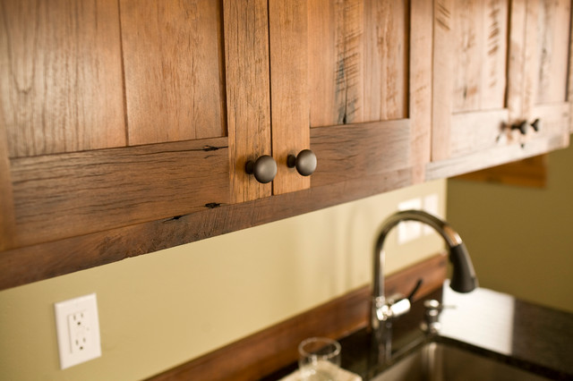 Reclaimed Wood Kitchen Cabinets Custom