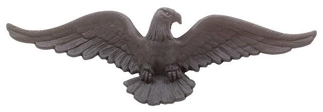 Eagles Bald Eagle Black Aluminum Bald Eagle 6 H x 19 W''   18904 traditional-outdoor-products