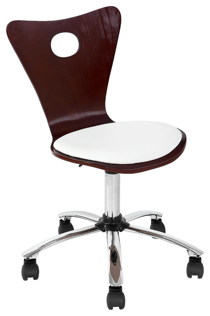 Valencia Office Chair - CHERRY/CREAM - contemporary - task chairs