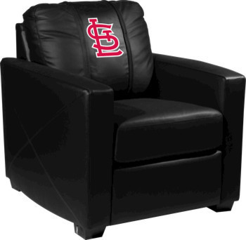 St. Louis Cardinals MLB Alt Logo Xcalibur Leather Arm Chair traditional-accent-chairs