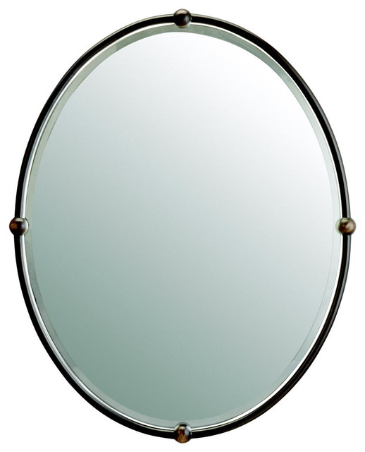 Bronze Bathroom Mirrors Shop Allen Roth 29 In H X 23 In