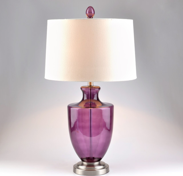 Magenta Glass Table Lamp Table Lamps By Kirkland S