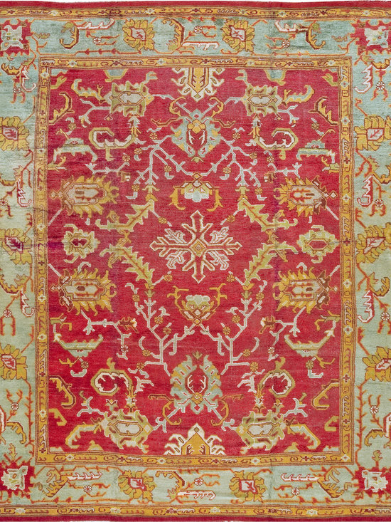 "Antique Turkish Oushak Carpets - #18469 antique Turkish Oushak carpet 11'9"" x 13'6"""