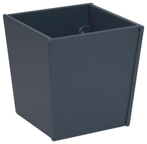 Loll designs charcoal gray taper square bin and planter for Loll planters