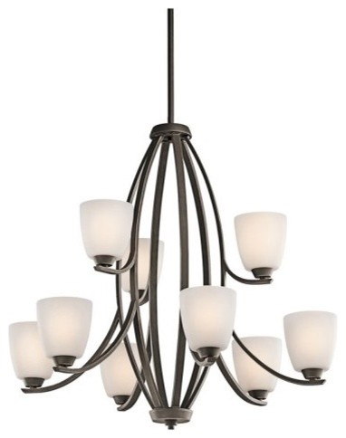 Kichler 42559OZ Granby 9-Light Chandelier - Bronze contemporary chandeliers