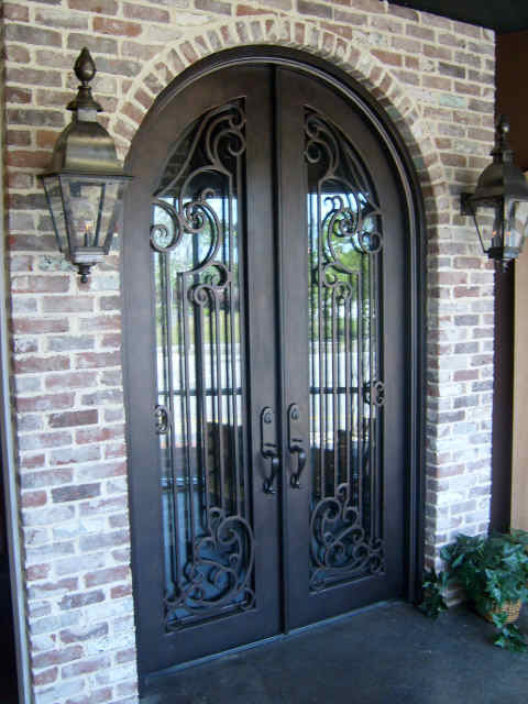 Iron door projects front doors other metro by doors for Front door arch design