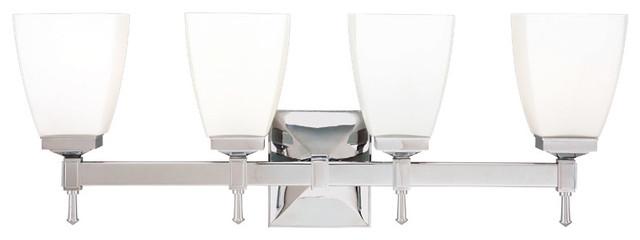 Hudson Valley Lighting 654-PC Kent 4 Light Bathroom Vanity Lights in Polished Ch traditional-bathroom-vanity-lighting