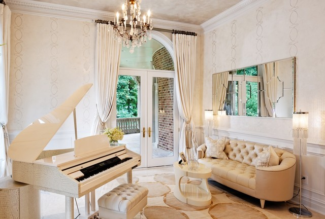 Piano room traditional living room dc metro by for Piano room decor