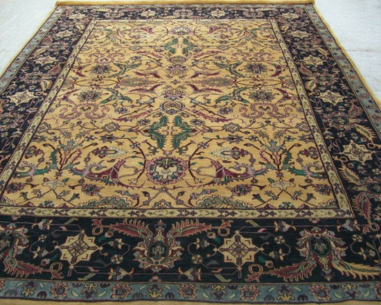 Rugsville Fine Mashad Gold Black Rug 11658 - Rugsville Fine Mashad wool rug is popular items of commerce and made for domestic use as well as export. The Rug is fine hand knotted with gold and black colors