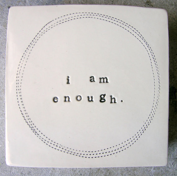 Wall Box, I am enough by MB Art Studios modern accessories and decor
