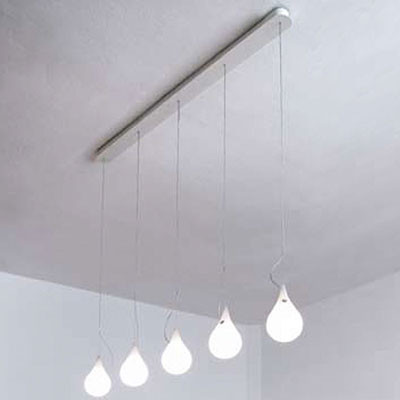 Drop 2 Liquid Light 5-Lt Pendant Lamp, Long pendant-lighting