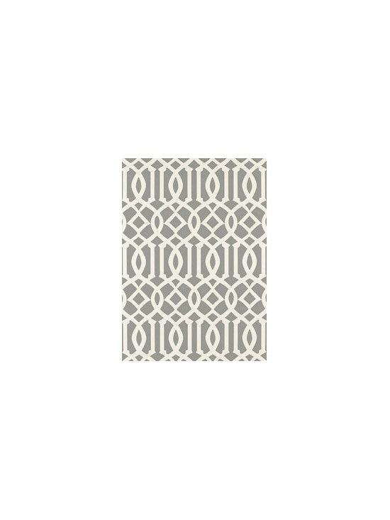 Schumacher Imperial Trellis wallpaper - This wallpaper is a modern twist on a classic pattern. It is great for many rooms and really makes a fun statement!