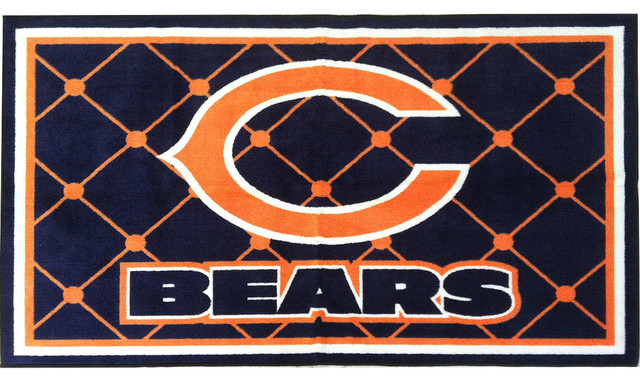 nfl chicago bears 4 x 6 area rug contemporary game