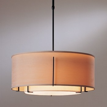 Hubbardton Forge | Exos Double Shade Pendant modern-pendant-lighting