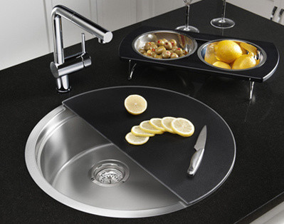 BLANCORONIS: The Entertainment Sink contemporary kitchen sinks