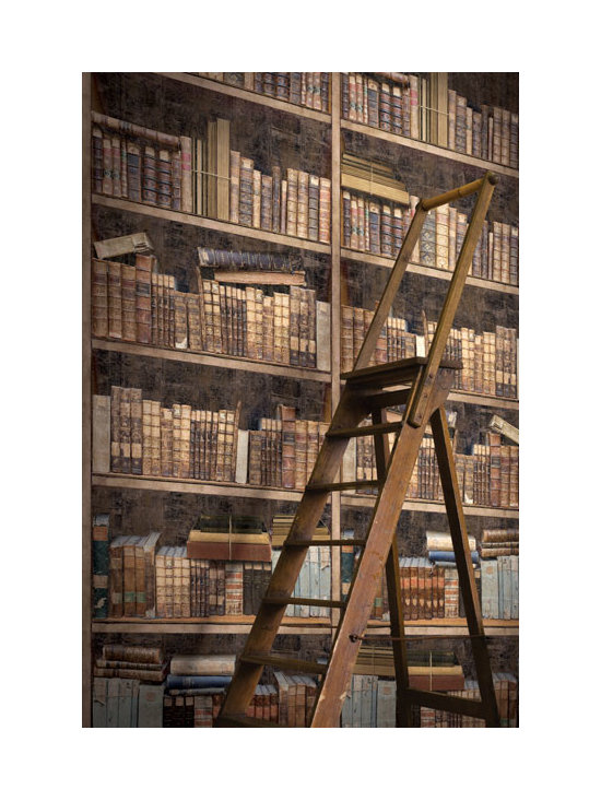 Vintage Wallpaper - Vintage library mural available from Brewster Home Fashions