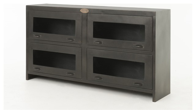 Rockwell Media Cabinet industrial-buffets-and-sideboards