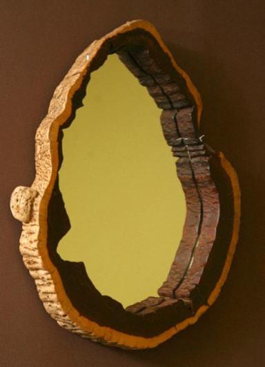 Gorgeous Unique Mirror Art Deco Wood Contemporary Wall