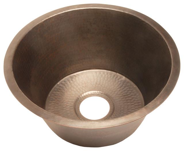 ... BFC3KIT Large Round Copper Kitchen Sink With Flat Bottom kitchen-sinks
