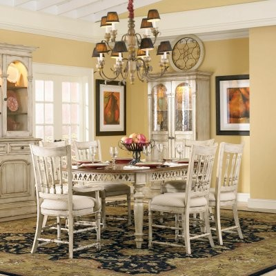 Summerglen 7 pc. Oval Dining Set with Spindle Chairs modern-dining-tables