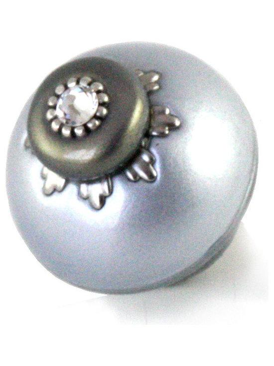 Nu Lily Knob 1.5 in. Light Sapphire -