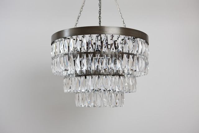 Clear Crystal Shallow Chandelier contemporary-chandeliers