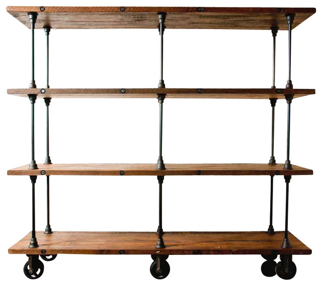V16 Shelving Unit, Reclaimed Wood/Large - Eclectic - Storage Cabinets - by Inmod
