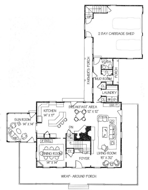 Plan 530 3 by classic colonial homes traditional floor for Classic colonial floor plans