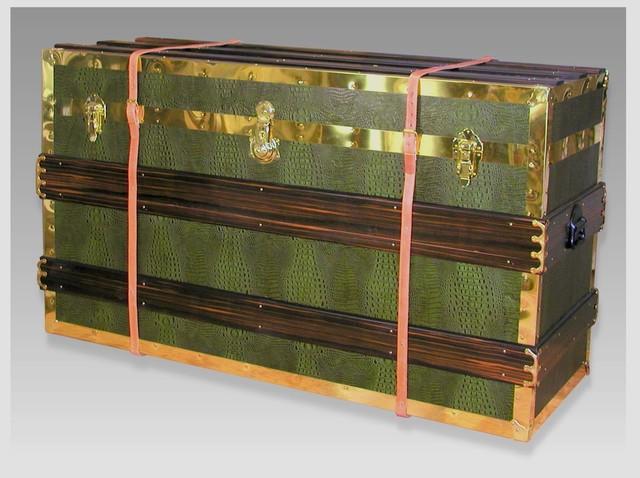 Steamer Trunk Plasma TV Pop-up Cabinet traditional-decorative-trunks