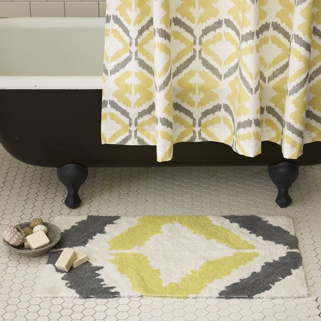 shower curtain and bath mat products on houzz matching shower curtain ...